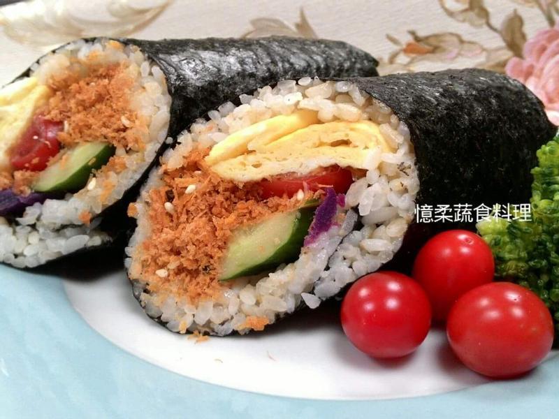 ♥憶柔蔬食♥胚芽米飯捲