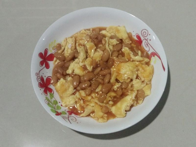 茄汁焗豆炒蛋
