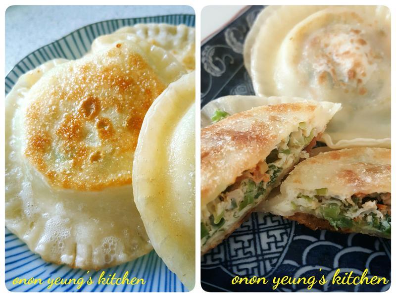 香蔥灌蛋餅 簡易餃子皮料理。家常午餐