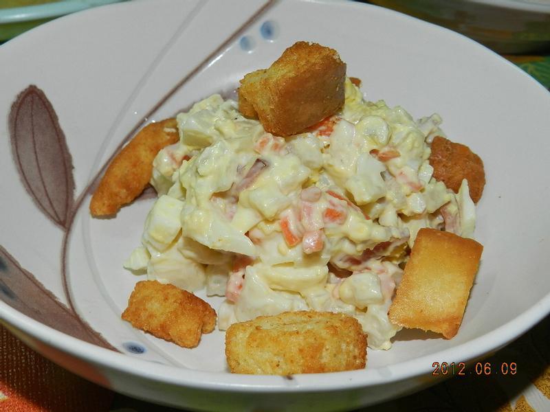 ㄚ曼達的廚房~雞蛋火腿沙拉