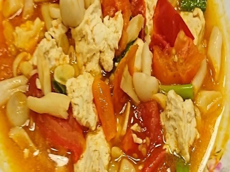 任何菇番茄燒豆腐