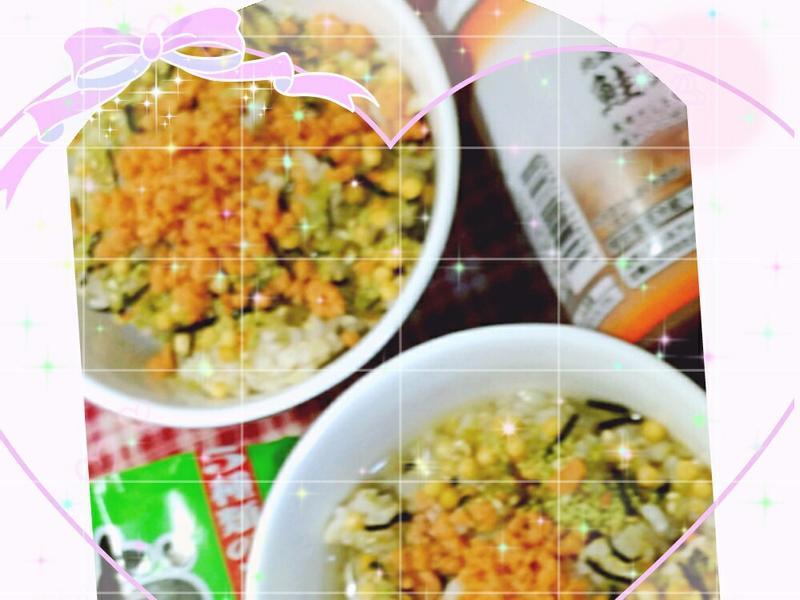 明太子鮭魚鬆茶泡飯