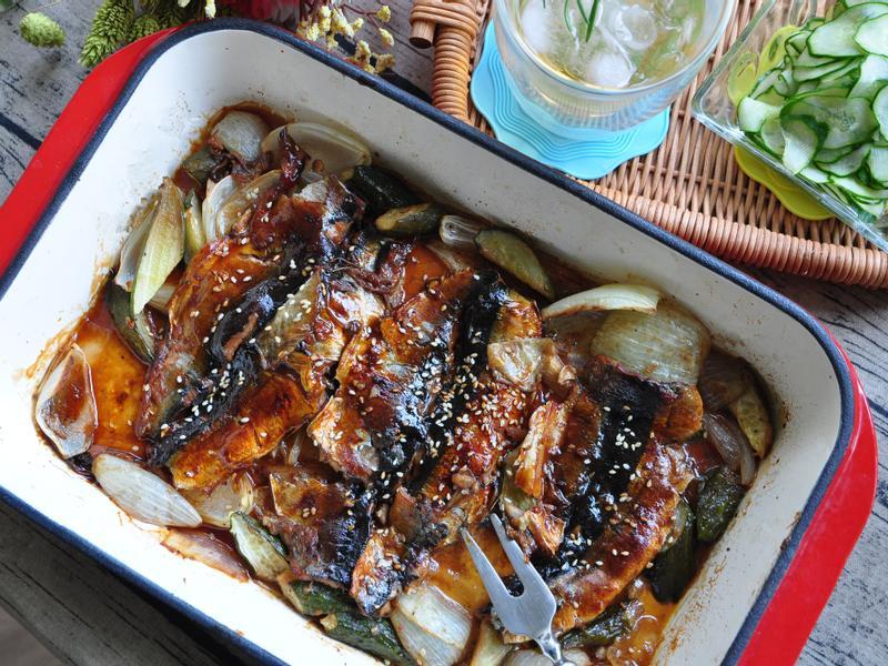 日式照燒醬烤鮮蔬秋刀魚【統一生機】