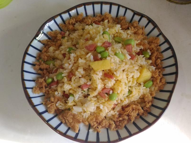 鳳梨炒飯(水波爐版)