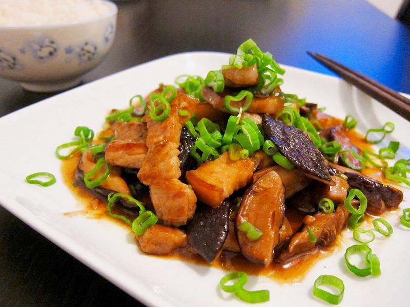醬燒香菇五花肉