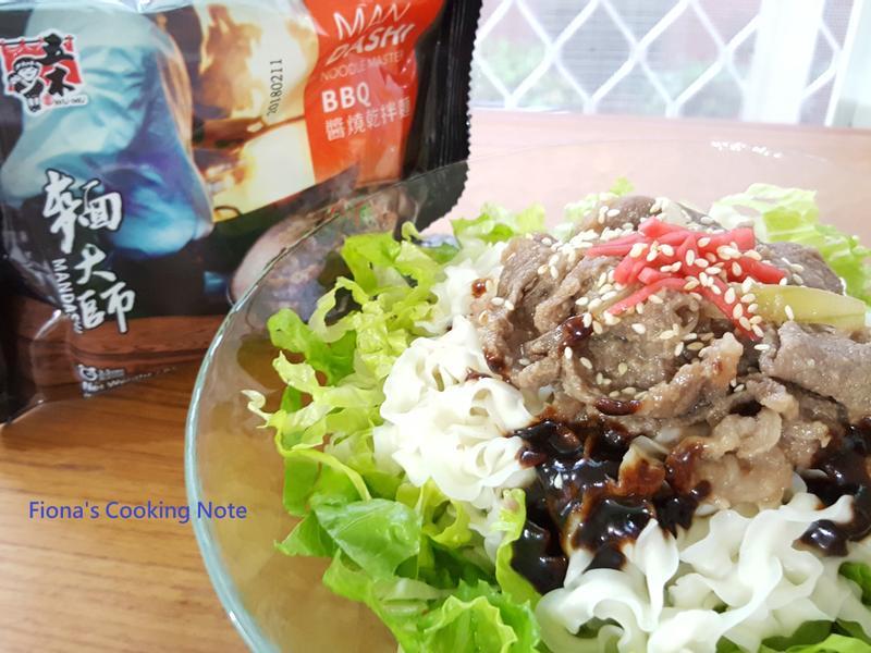 [五木BBQ醬燒乾拌麵] & 韓式烤肉