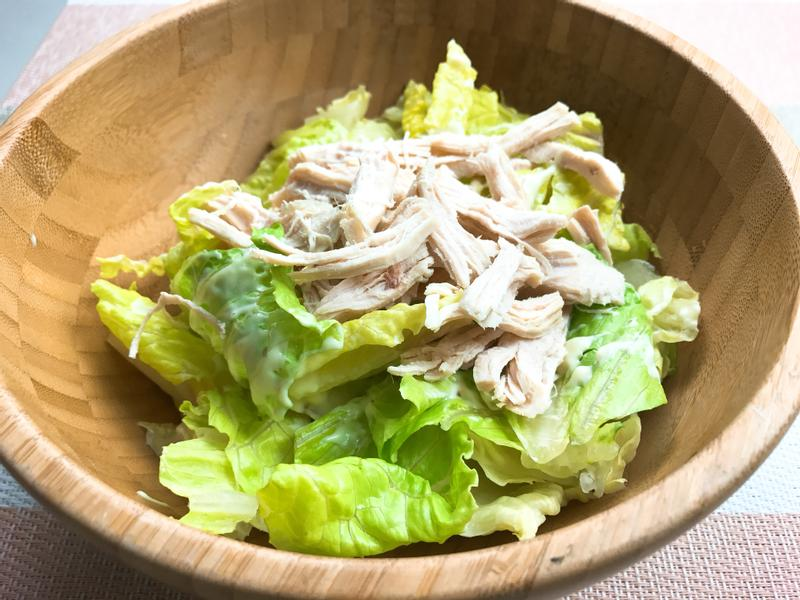 雞胸肉塔塔生菜沙拉 #輕食