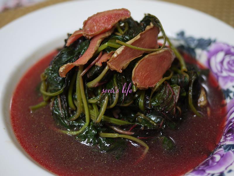 麻油老薑紅莧菜