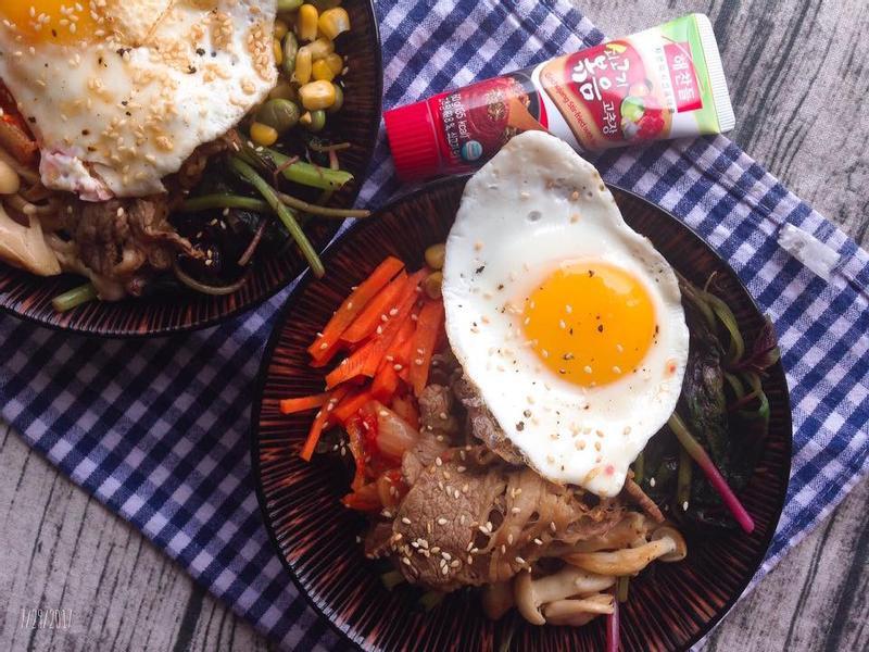 韓式偽石鍋拌飯 비빔밥