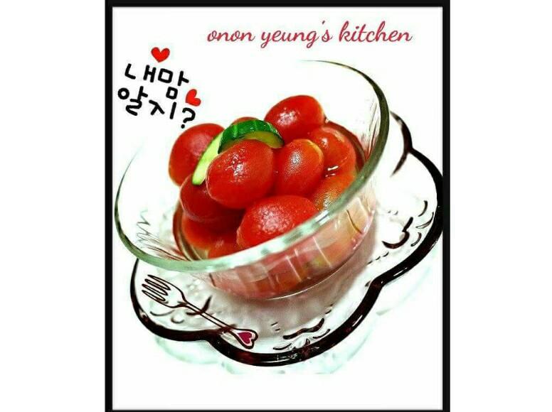 冰凍蜂蜜梅漬小蕃茄 夏日漬物。家常前菜