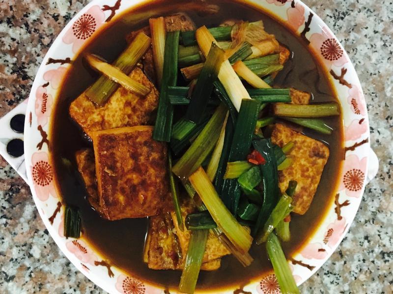 辣醬黃金豆腐