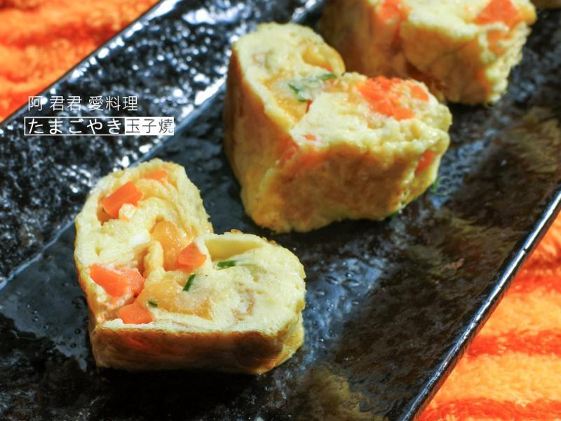 用平底鍋做蔬菜玉子燒-史雲生清雞湯