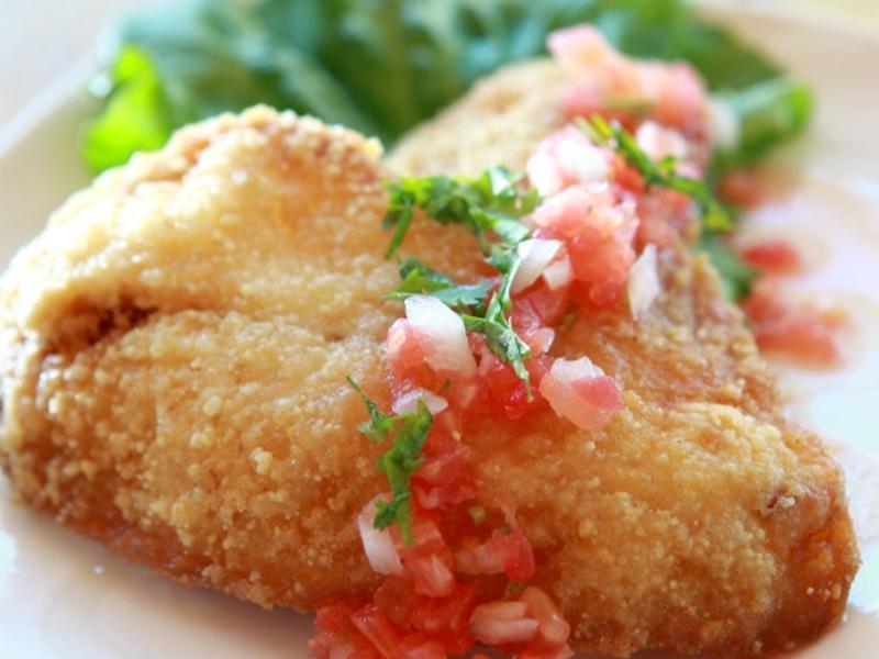 番茄莎莎香酥魚排