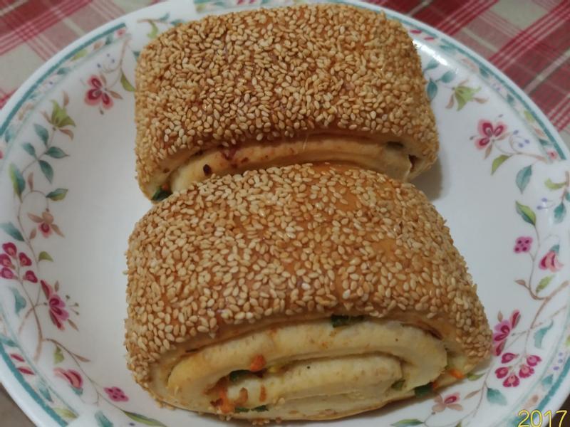 🍥香烤全麥起司蔥花捲(老麵版)🍥