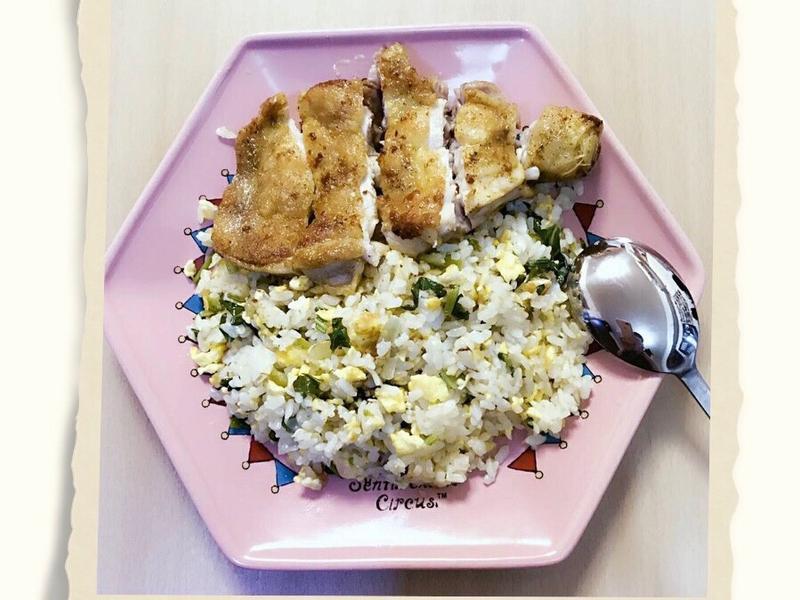 咖喱雞腿排青蔬炒飯