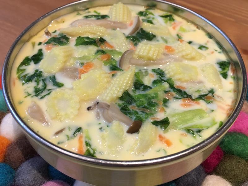 【寶寶食譜】蔬菜蒸蛋飯