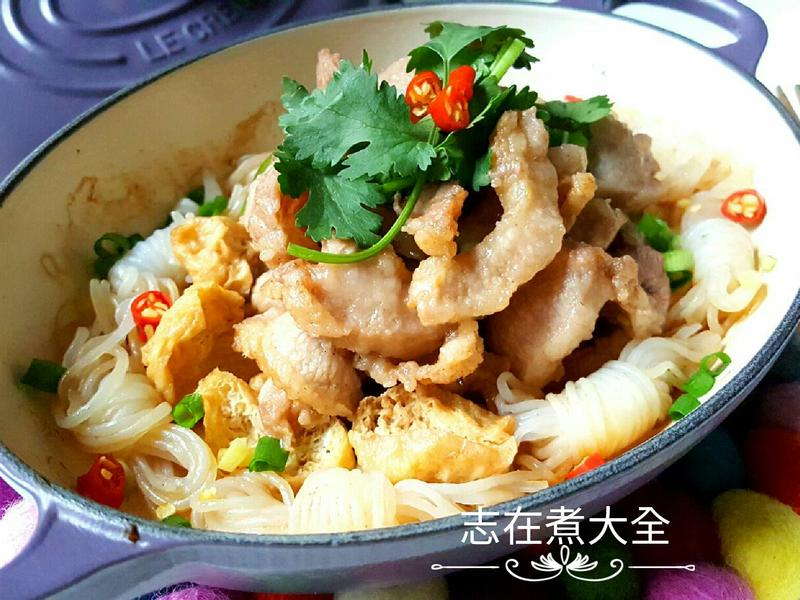 無水蒸蝦醬豬頸肉豆卜芋絲