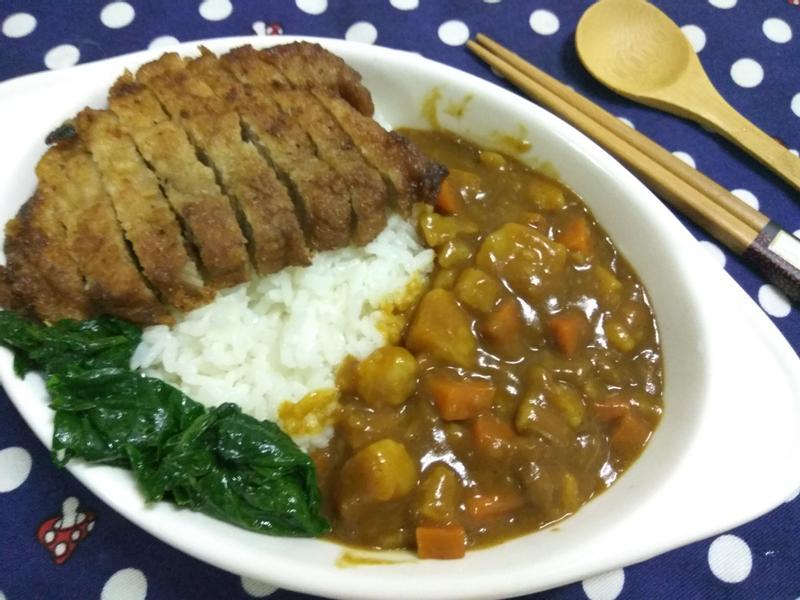 簡易美味咖哩豬排飯