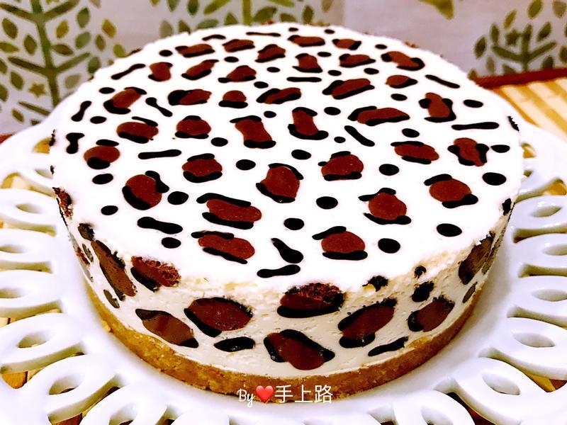 可愛爆表~豹紋生乳酪蛋糕(5吋、免烤箱)