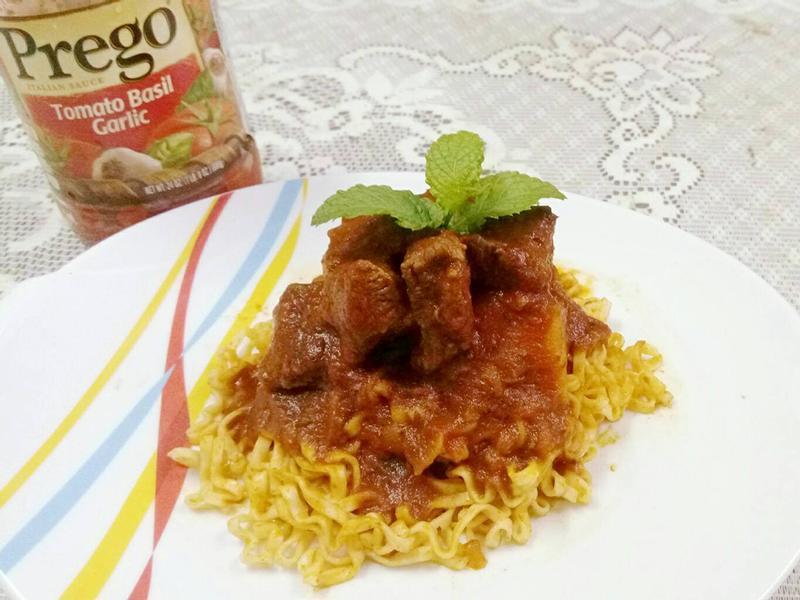 番茄羅勒燴牛肉【Prego 義大利麵醬】
