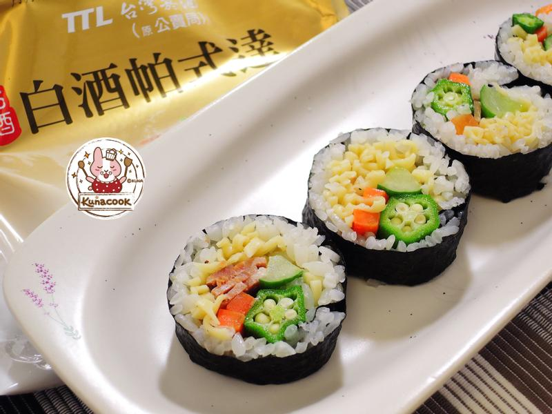 奶油白醬泡麵壽司【白酒帕式達】