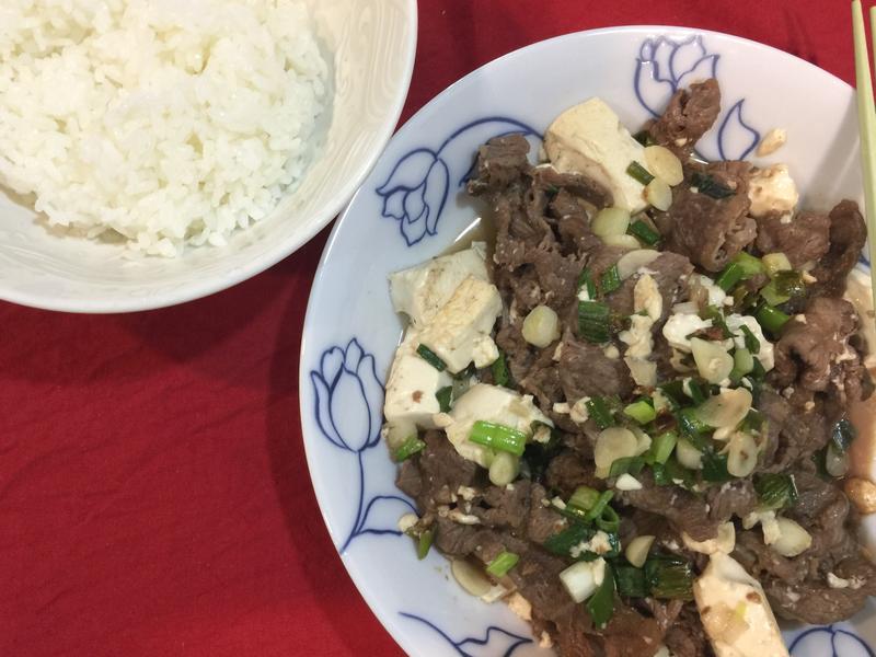輕鬆上菜的豆腐炒牛肉