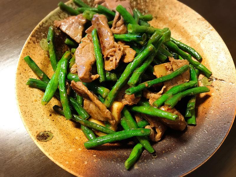豆角炒牛肉