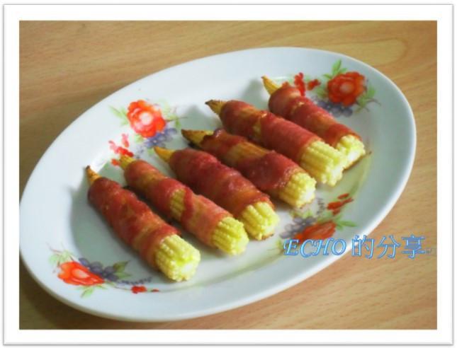 少油煙料理:玉米培根捲-簡單好吃免煎炸