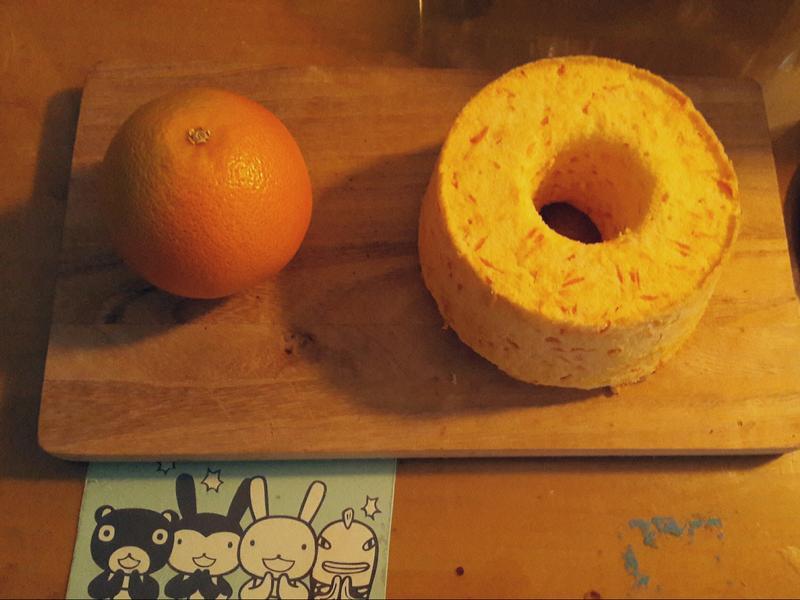葡萄柚戚風蛋糕