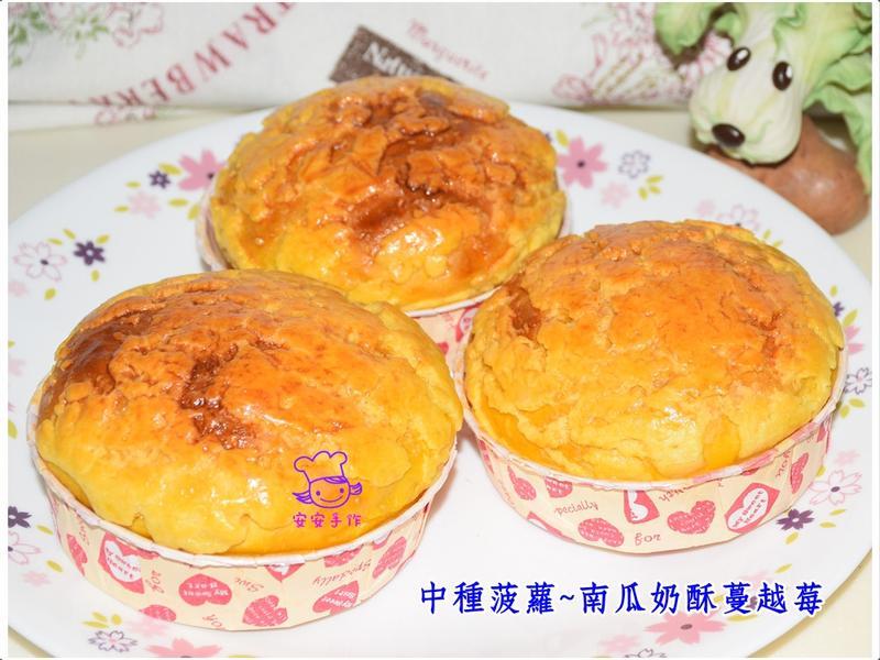 中種菠蘿~南瓜奶酥蔓越莓麵包