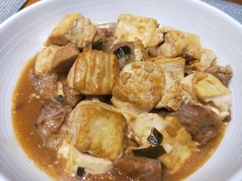 豬肉紅燒豆腐(椒麻口味)