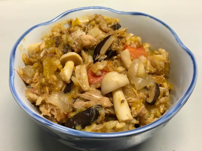 南瓜鮪魚蔬菜燕麥燉飯