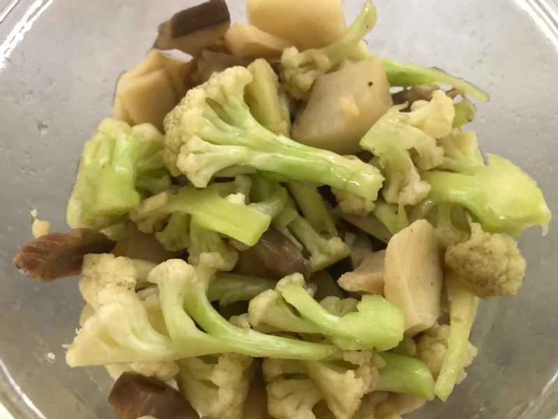 菇菇白花椰炒鹹豬肉