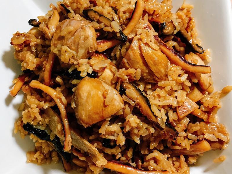 魷魚雞肉燉飯