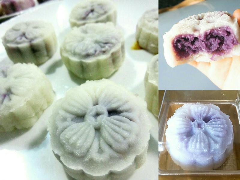 易整之低卡紫薯冰皮月餅😋