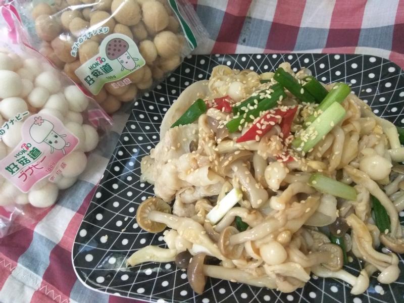 十分鐘辛香豚片菇菇涼拌菜【好菇道好食光】
