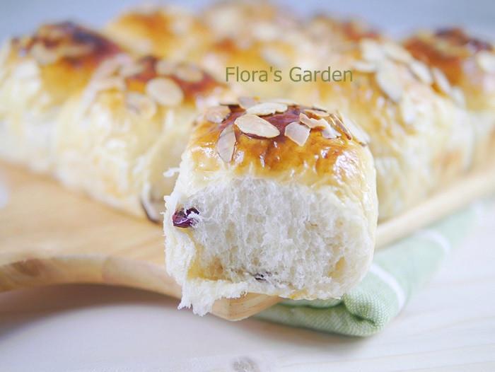 超柔軟~蔓越莓米麵包