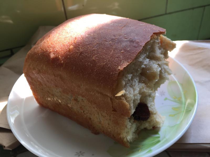健康無油葡萄乾全麥土司(低溫發酵法)