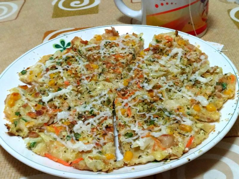 高麗菜什錦煎餅
