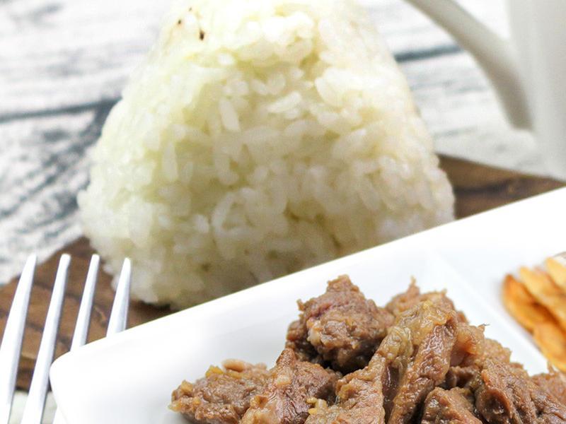 【厚生廚房】蒜味香煎牛角肉飯糰