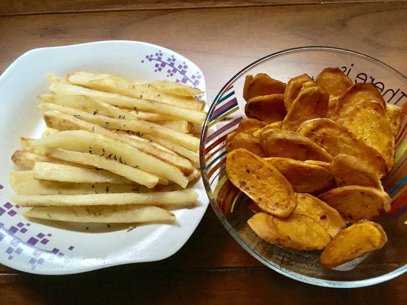 奶油馬鈴薯+煎地瓜片