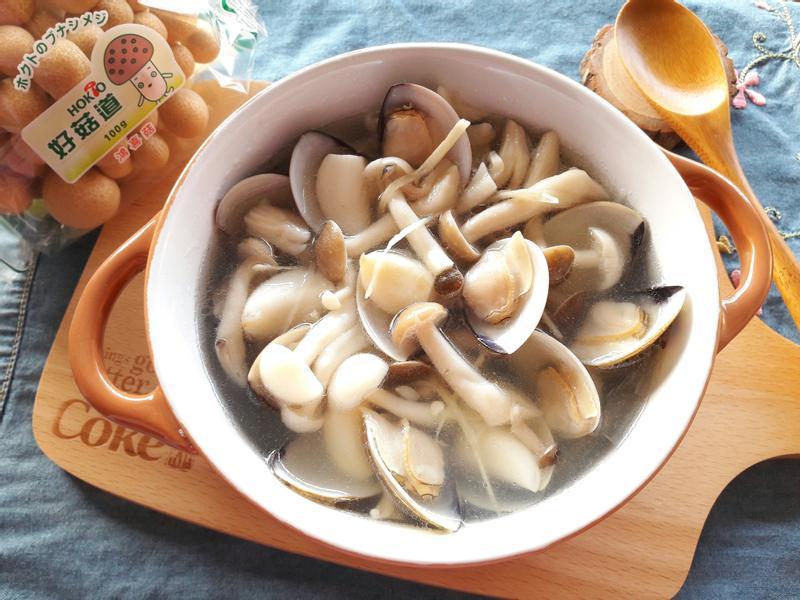 鮮菇蒜頭蛤蜊湯【好菇道好食光】
