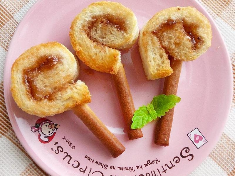 棒棒糖吐司餅乾♥