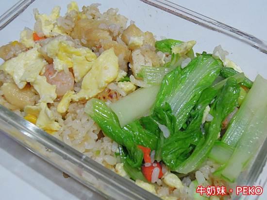白菜蝦仁雞塊蛋炒飯