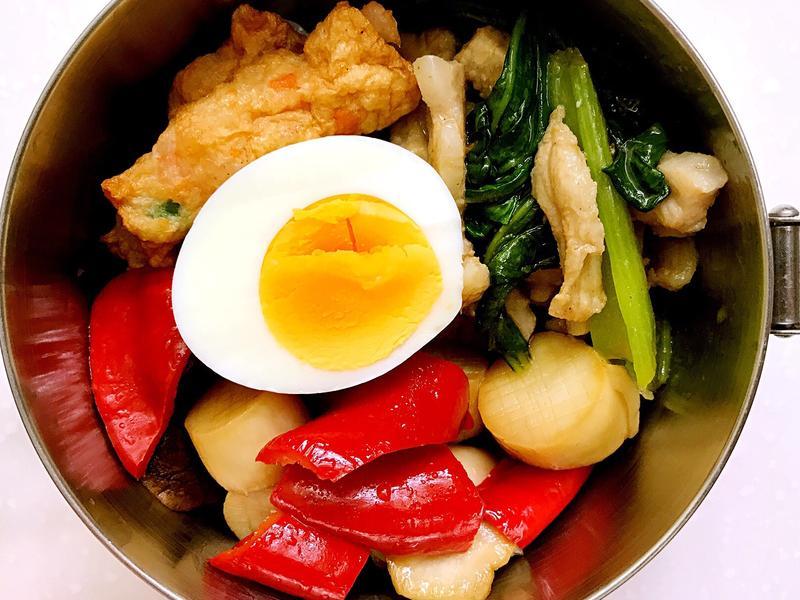 お弁当-171101-沙茶油菜炒肉絲
