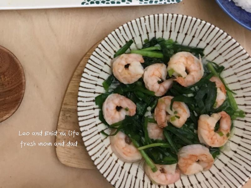韭菜蝦仁⁕Costco冷凍蝦仁