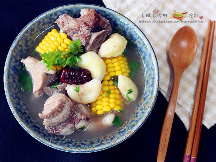 菱角玉米龍骨湯【台糖安心豚】