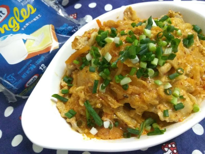 十分鐘上菜─韓式泡菜起司炒肉片