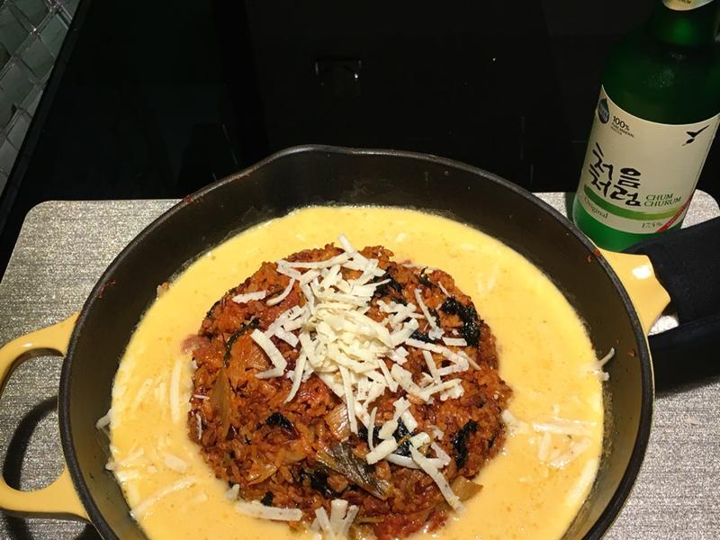 蛋素食:韓式芝士溶岩炒飯(未來漢堡)