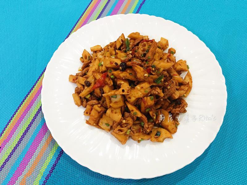 豆鼓蓮藕炒肉絲